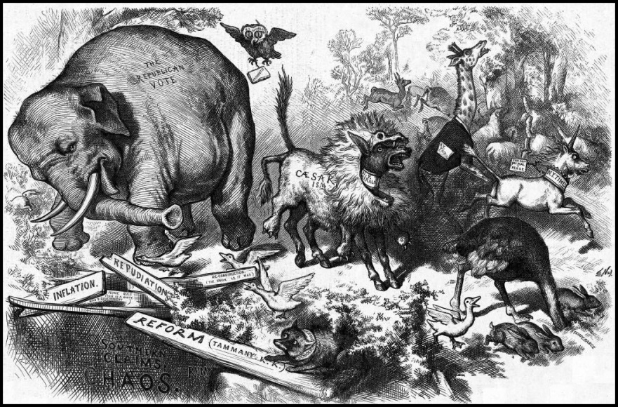 Repubs and Demos in 1874